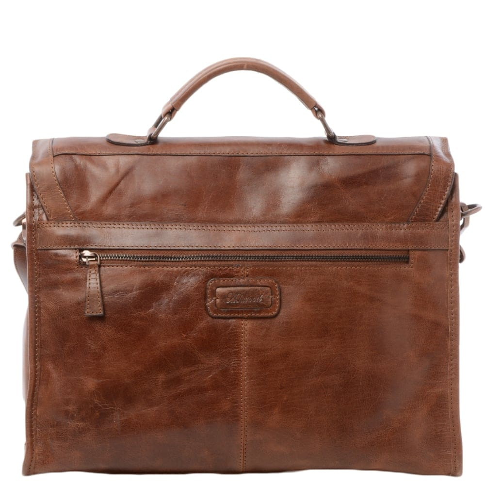 Mens Leather Briefcase Tan Tycho Mens Leather Bags
