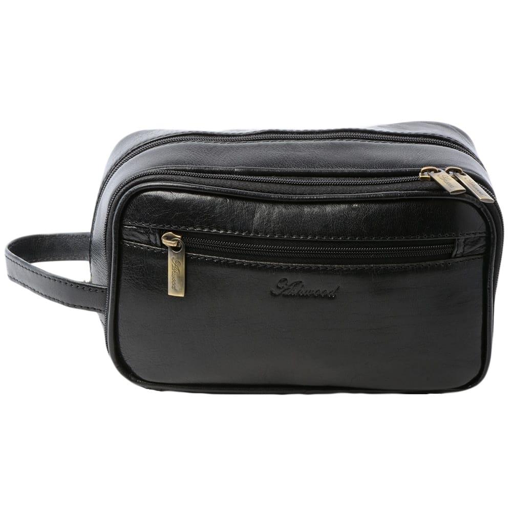 832030d4f Mens Leather Washbag Black/vt : 2080 | Mens Leather Bags