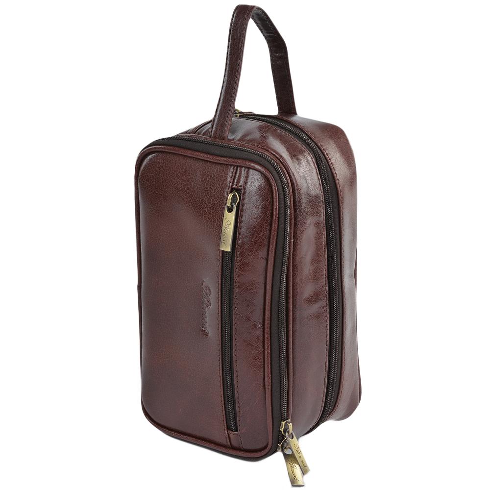 Mens Leather Washbag Cognac vt   2080 8077370299be1