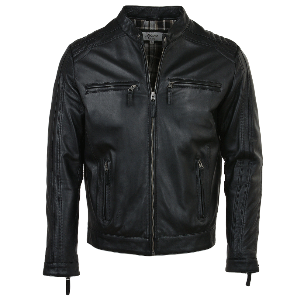 Mens Leather Jacket Black Bristol Mens Leather Jackets