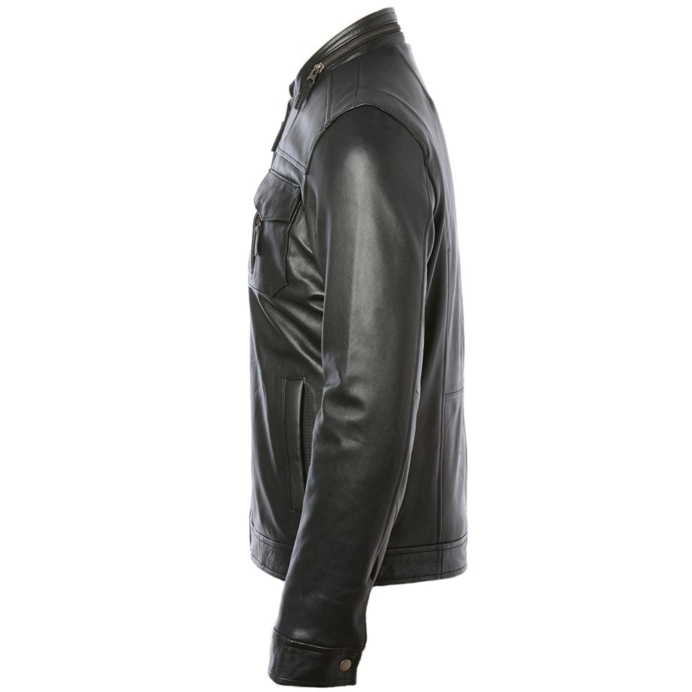 Sheepskin Rug Edinburgh: Mens Leather Jacket Black : Edinburgh