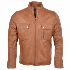 Leather Jacket Tan : Bacchus