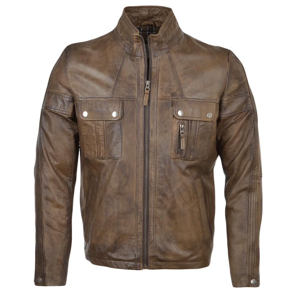 Sheepskin Rug Edinburgh: Mens Leather Jacket Timber : Bacchus