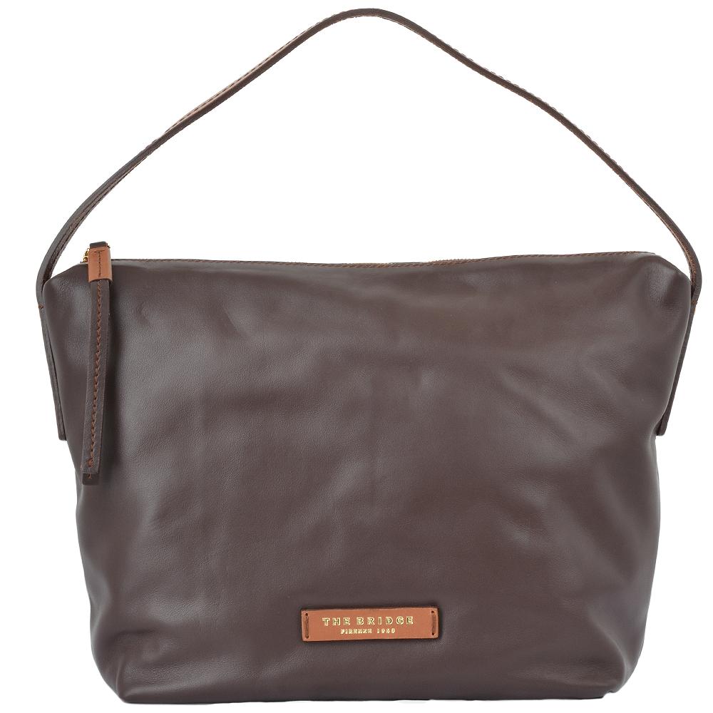 dc257aad9808 Medium Italian Leather Hobo Bag Brown   044626 3R 14 NH