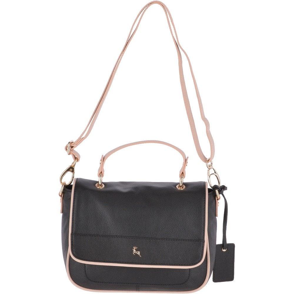 eff274605 Medium Leather Handbag Black : 61550 - Handbags from Leather Company UK
