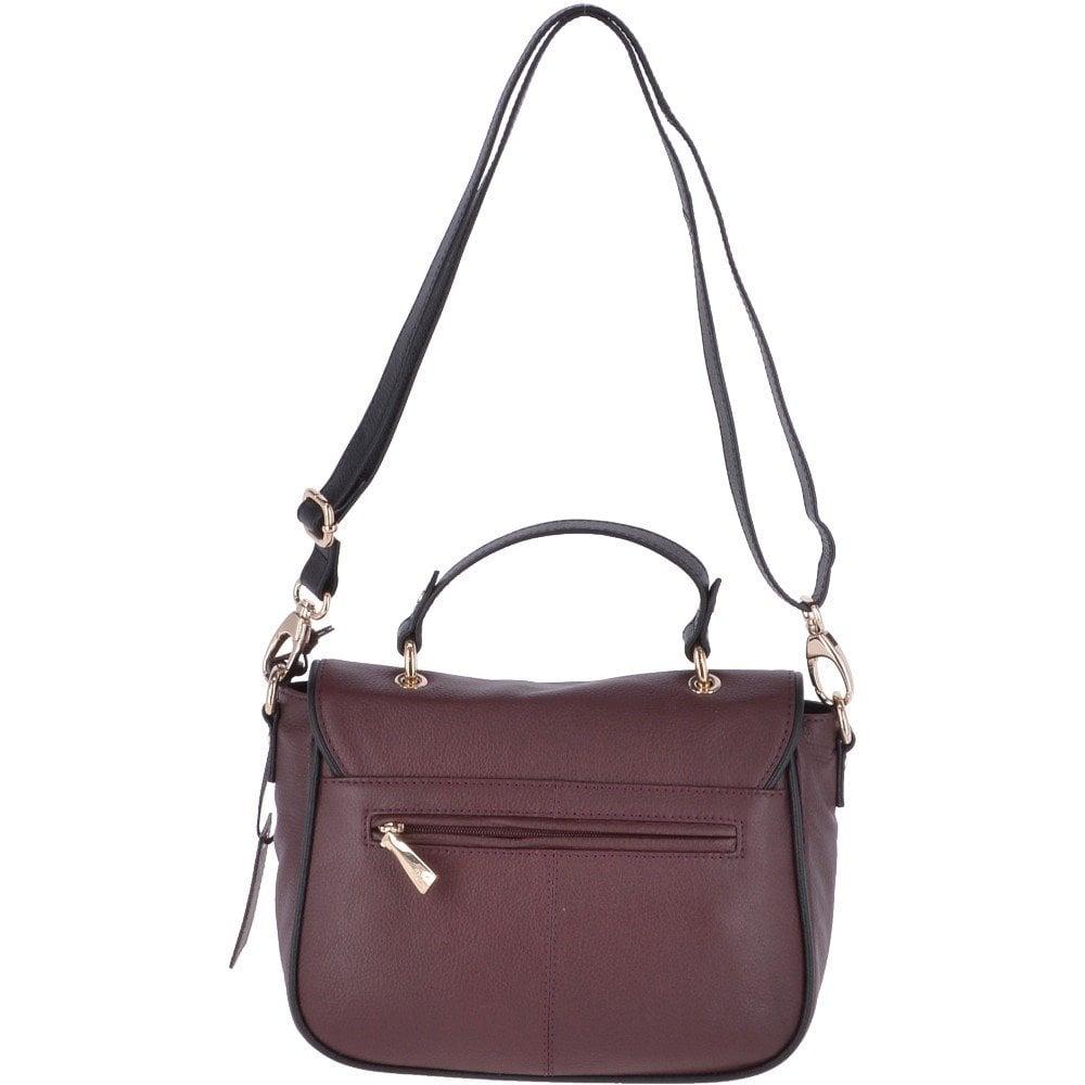 65967e6a0f1e ASHWOOD Medium Leather Handbag Burgundy  61550 - Handbags from ...