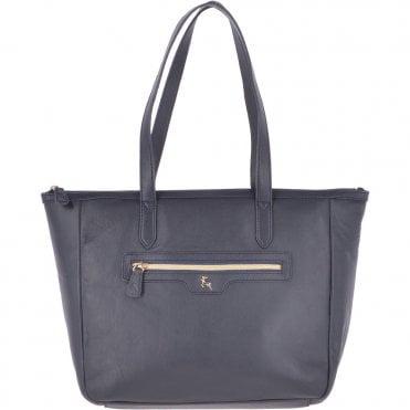 1e8dbb139 Medium Leather Handbag Navy : 62121