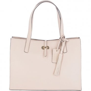 2bb5ed492a35 Medium Leather Shopper Bag Panna Cota Cream  61648