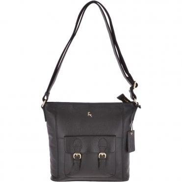 fc32cbcaf71c Medium Leather Shoulder Bag Black   62239