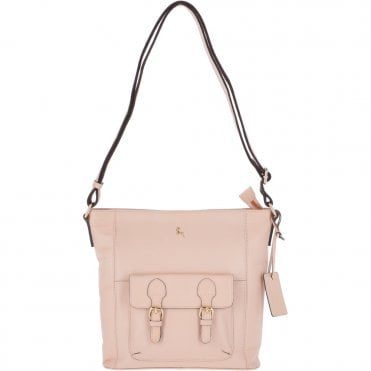 17b57b9f4c9c Medium Leather Shoulder Bag Pannacotta Cream   62239