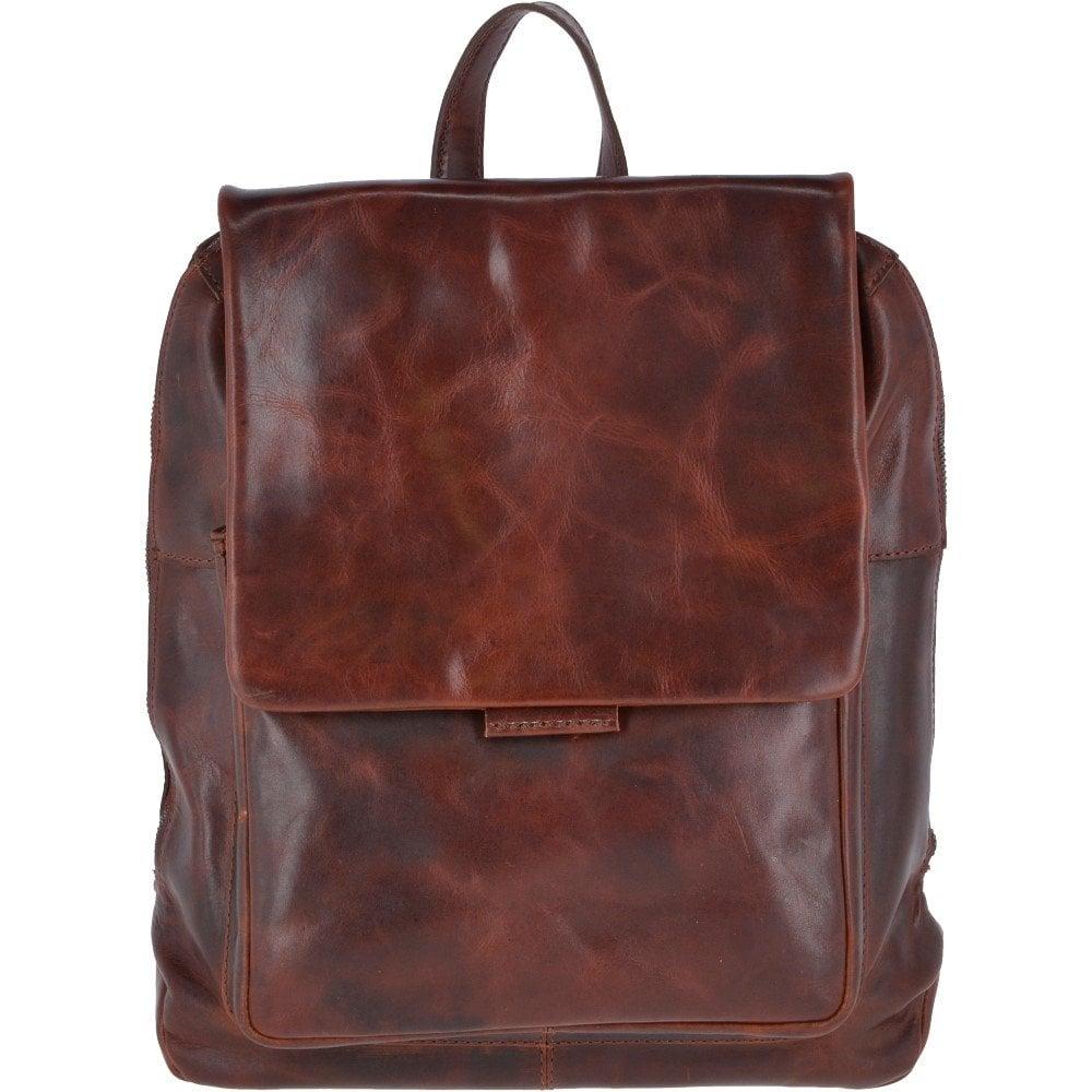 657b9df8cda ASHWOOD Medium Leather Zip Around Vintage Backpack Tan   Fred - Mens ...