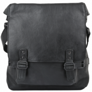3533879c172c9 Mens A4 Medium Leather Messenger Bag Black   Pablo