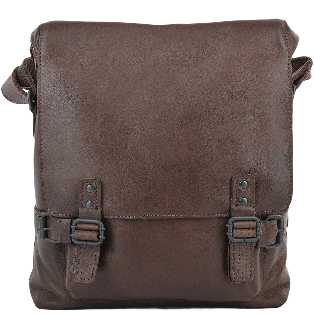 e8a1d209e27fb Mens A4 Medium Leather Messenger Bag Brown   Pablo