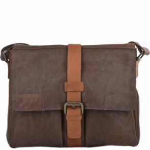 db4f1f605b14 Mens Four Pocket Leather Messenger Bag Brn cog   Cyrus