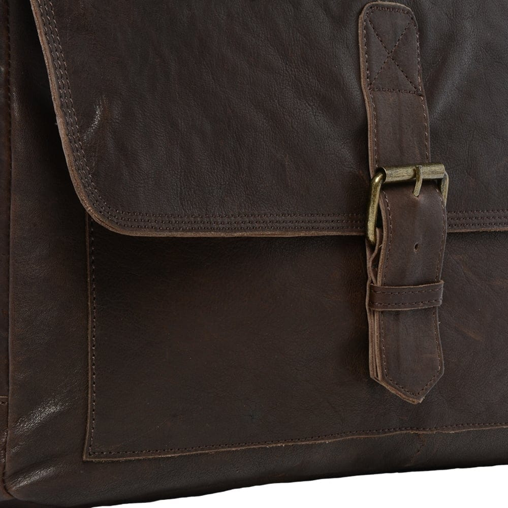 34f09e8628 Mens Large Leather Messenger Bag Brown   8686