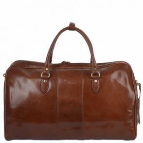 Mens Large Leather Weekend Holdall Chestnut/vt : Charles