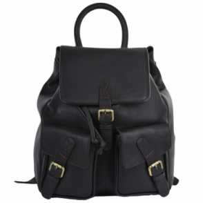 Mens Leather Backpack - Rucksack Brown
