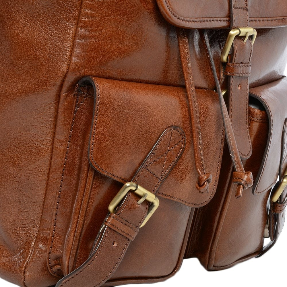 a26c591802fa Mens Leather Backpack - Rucksack Chestnut