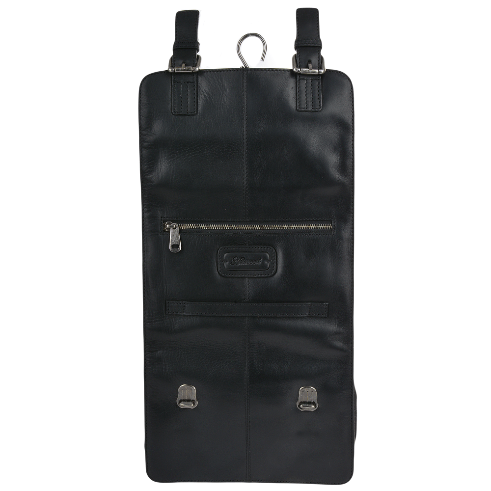Mens Leather Hanging Toiletry Bag Black   Phil  e6735a3d00b5b