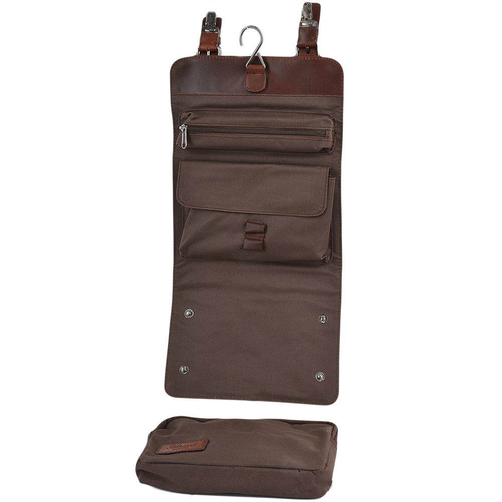 197616e48d Mens Leather Hanging Toiletry Bag Tan   Phil