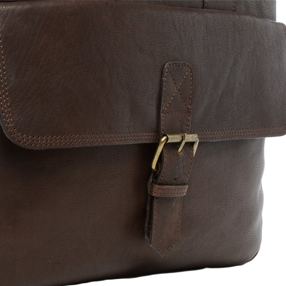 Mens Leather Laptop Briefcase Brown 8683 Mens Leather Bags