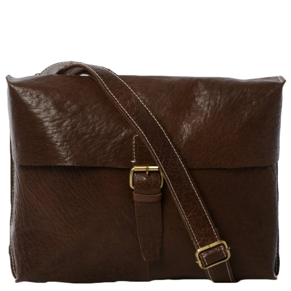 Mens Leather Messenger Bag Brown Bank Mens Leather Bags