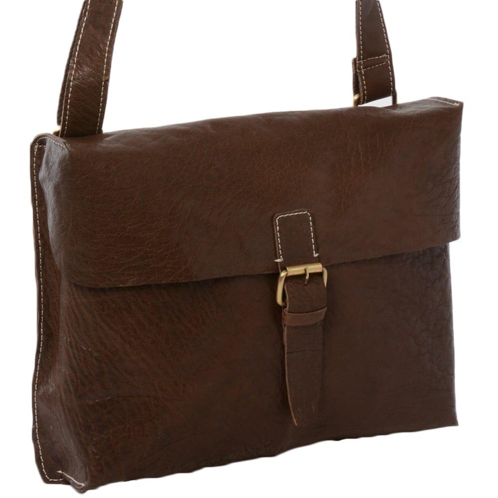 fbfebda04aa4 Mens Leather Messenger Bag Brown   Bank
