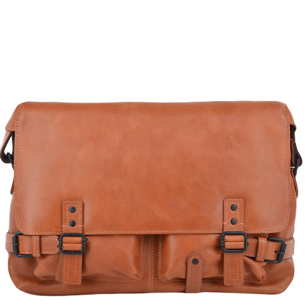 cd80f8bc28a1 Mens Leather Messenger Bag Tan   Ricardo