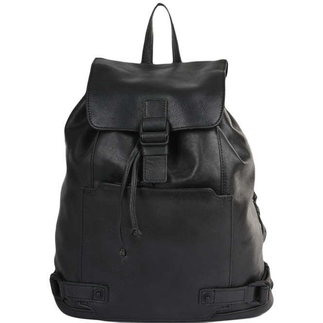 Ashwood Mens Leather Rucksack Black : Eduardo