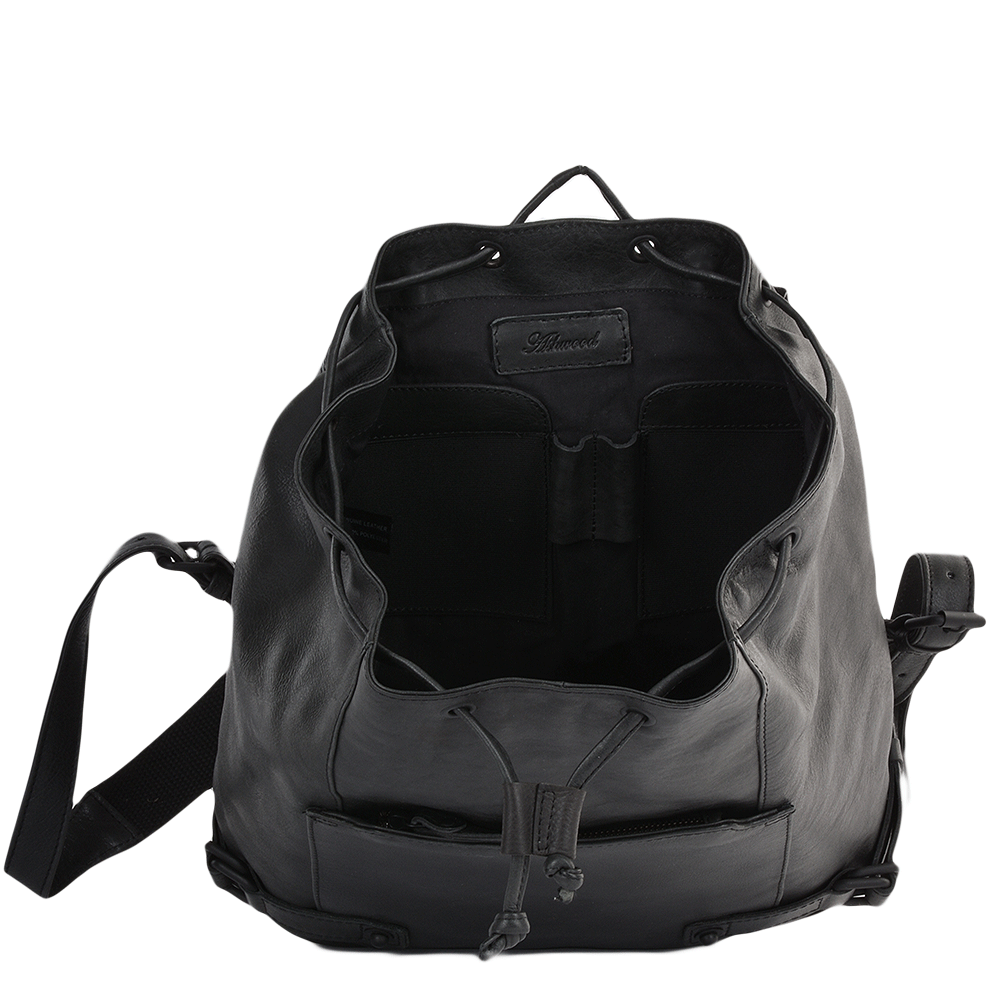 Mens Leather Rucksack Black Eduardo Mens Leather Bags