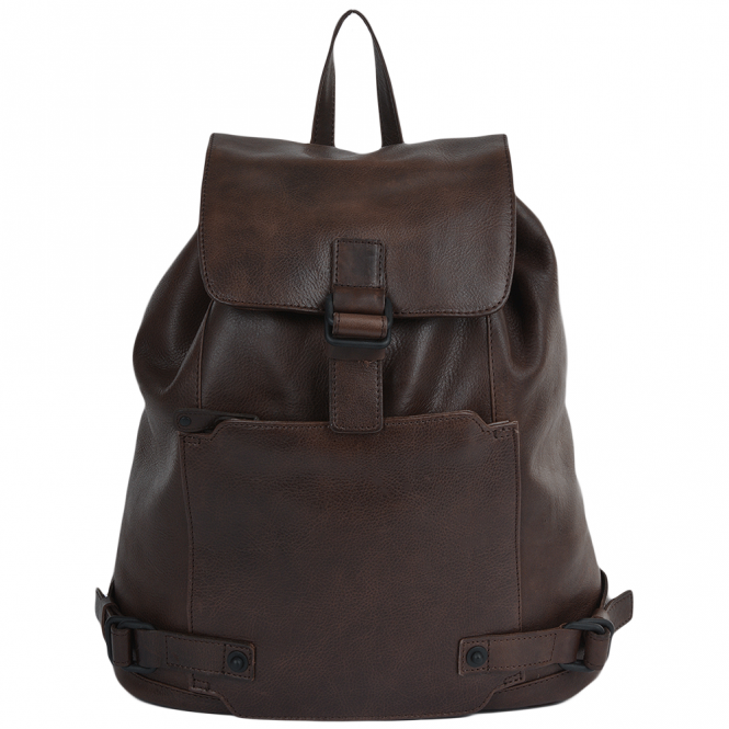 Ashwood Mens Leather Rucksack Brown : Eduardo