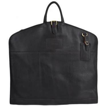 Mens Leather Suit Carrier Brown : Harper
