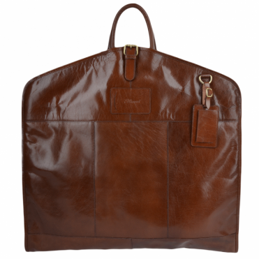 Mens Leather Suit Carrier Chestnut : Harper