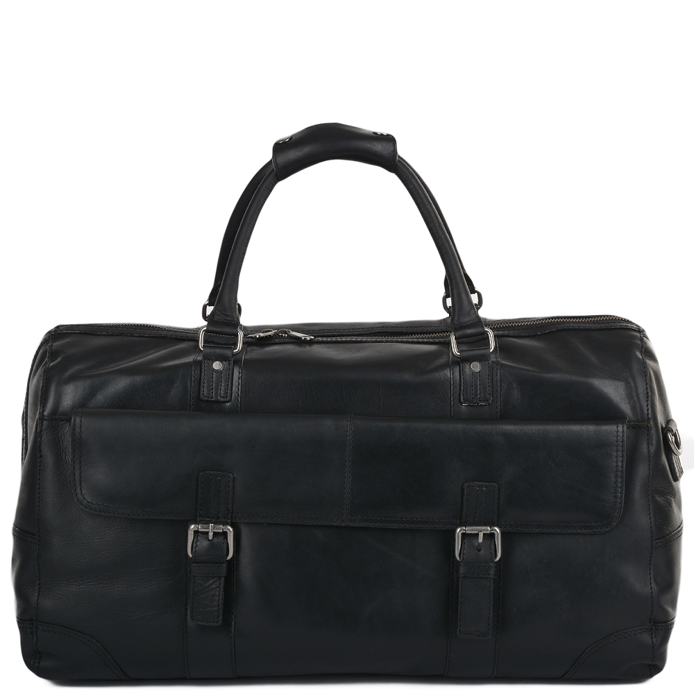 db6d8e5f4d1 Mens Leather Travel Bag Black   Francis