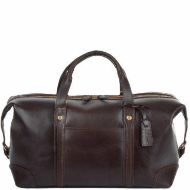 Mens Leather Travel Holdall Brown : Stanley