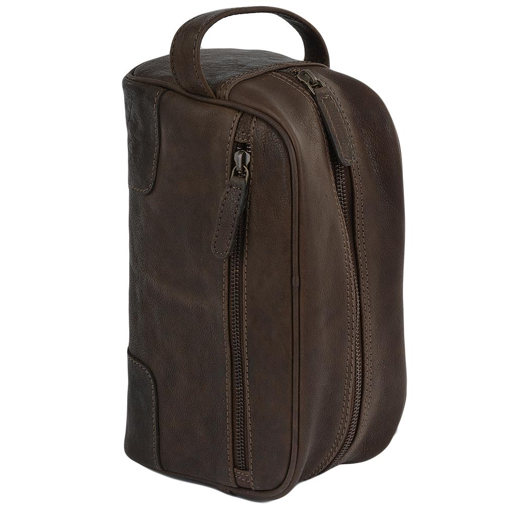 492b77582 Mens Leather Wash Bag Brn/cog : Duff | Mens Leather Bags
