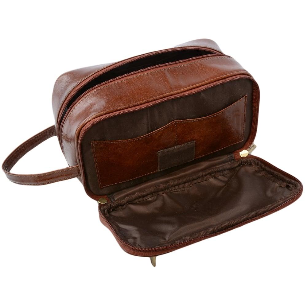 73d178b27 Mens Leather Washbag Chestnut/vt : 2080 | Mens Leather Bags