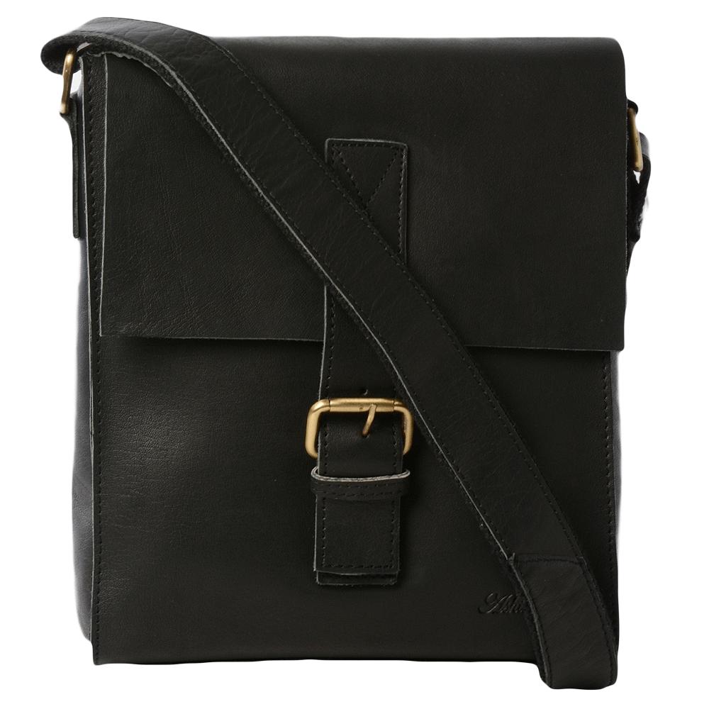 1d930312286 Mens Medium Leather Flight - Work Bag Black : 1479