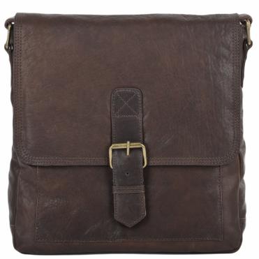 Mens Medium Leather Messenger Bag Brown   8685 fb67c0c7c1d11