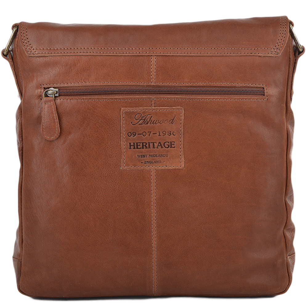 f6f51a9ffe Mens Medium Leather Messenger Bag Tan   8685