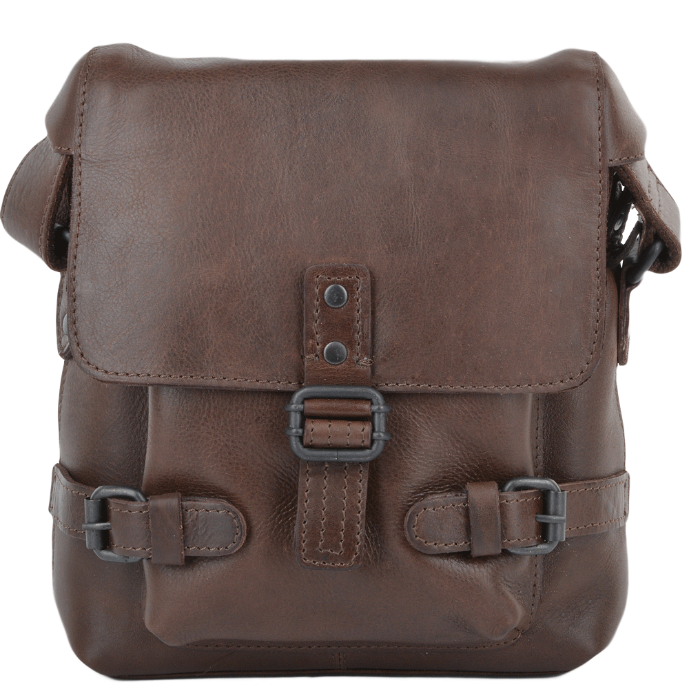 34a15c3efbfa Mens Small Leather Flight Bag Brown   Junior
