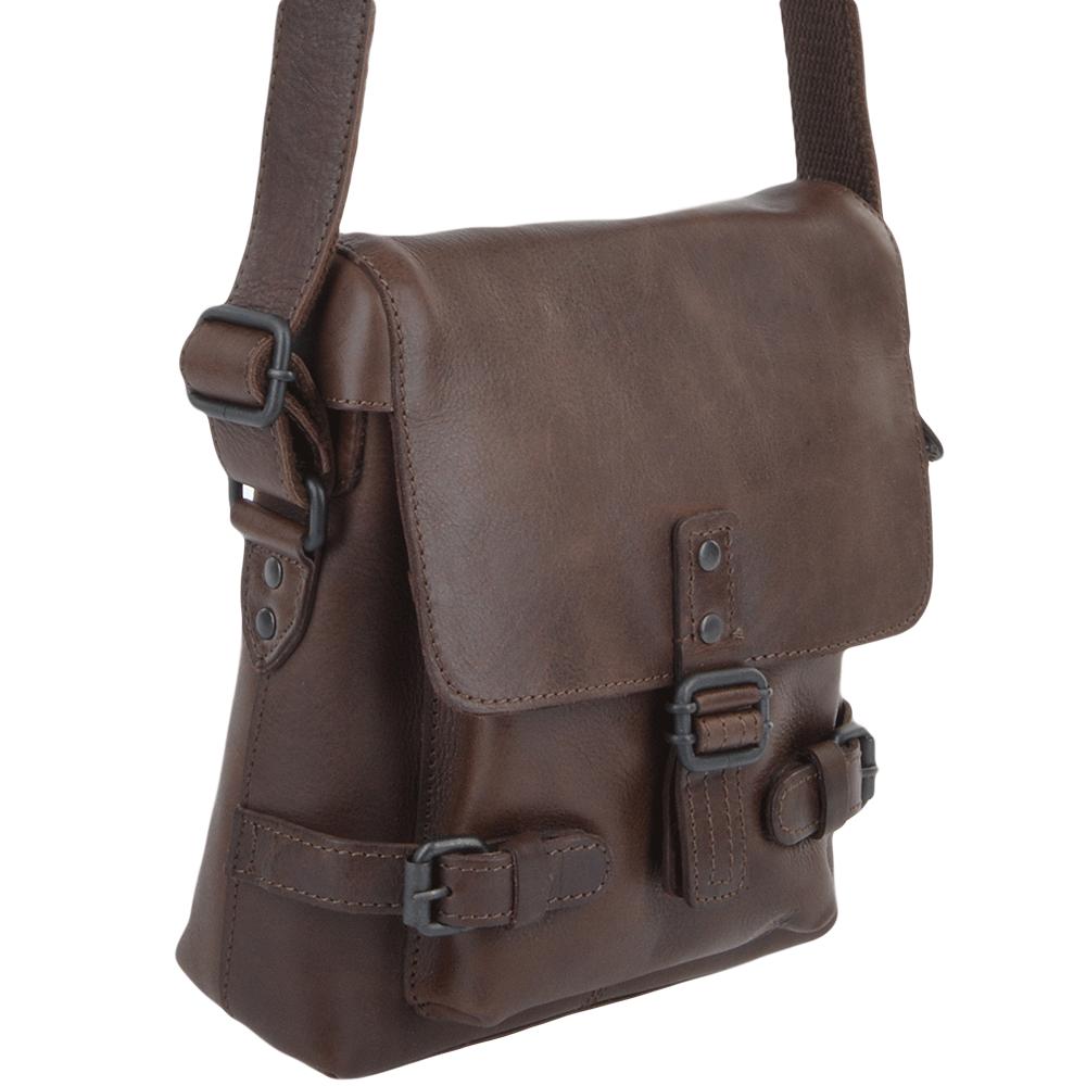 34a15c3efbfa Mens Small Leather Flight Bag Brown   Junior