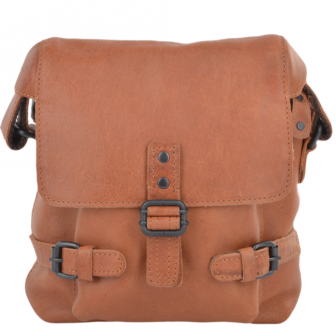 Ashwood Mens Small Leather Flight Bag Tan : Junior