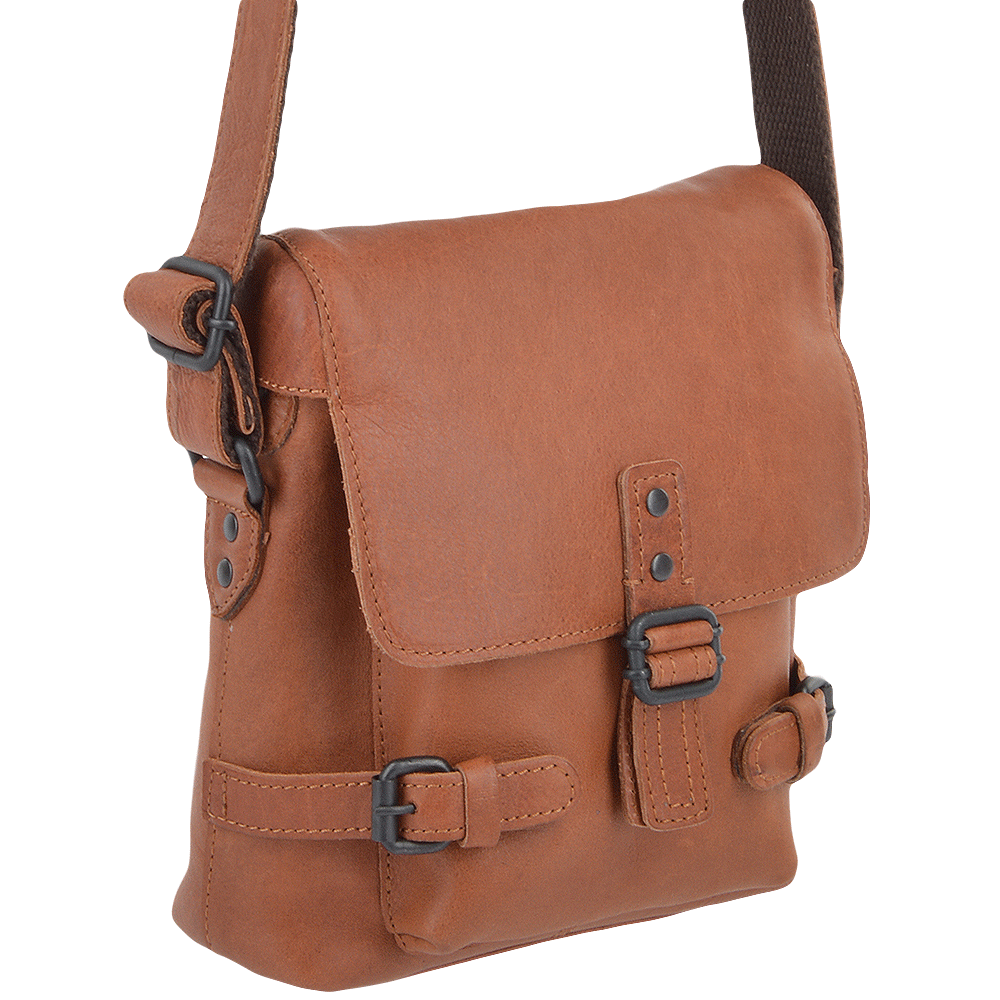 2f96eee7ae9f ASHWOOD Small Leather Flight Bag - Junior -Tan