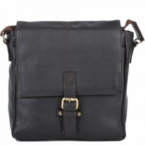 8229d0cea5d9 Mens Small Leather Flight Side Bag Brown tum   Murphy