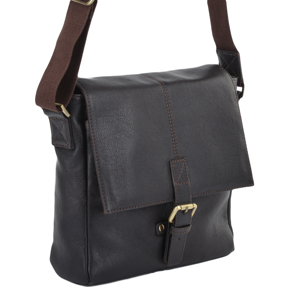 a2d7f351f41 Mens Small Leather Flight Side Bag Brown tum   Murphy   Mens Leather ...