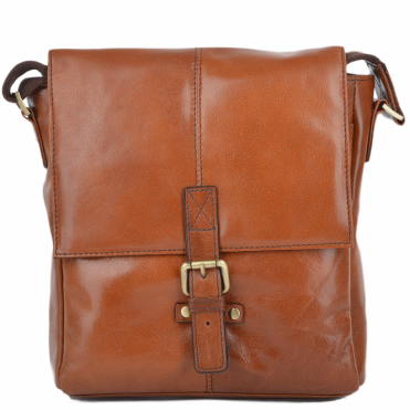 Mens Small Leather Flight Side Bag Chestnut/vt : Murphy