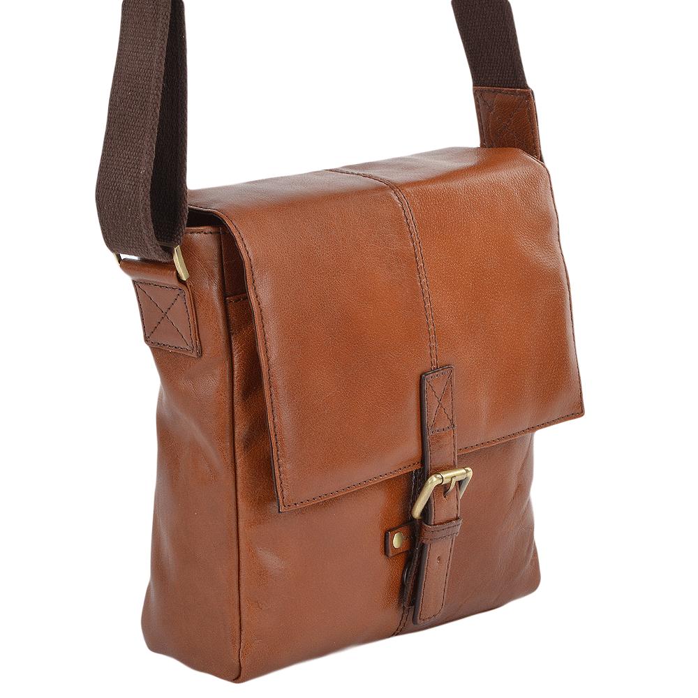 ASHWOOD Small Leather Flight Side Bag- Murphy - Chestnut vt 142db89b54a