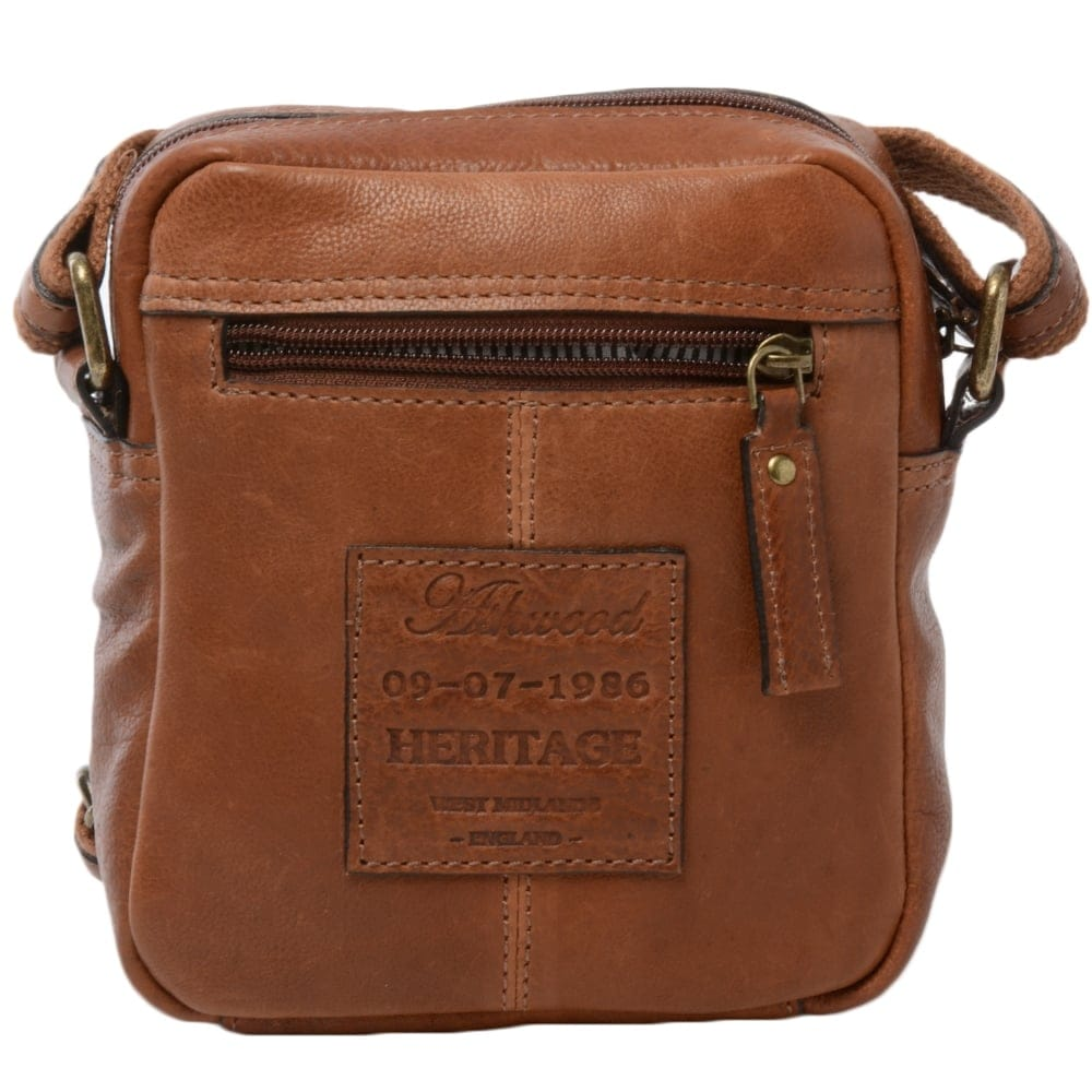 7183a159216f Mens Small Leather Travel Bag Tan   8681