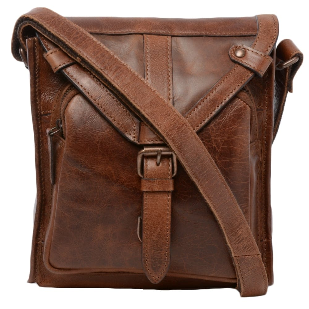 2d0f1ceffc Mens Small Leather Travel Bag Tan   Plato